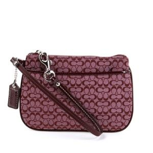 Coach Signature C Dusty Pink Small Wristlet Clutch